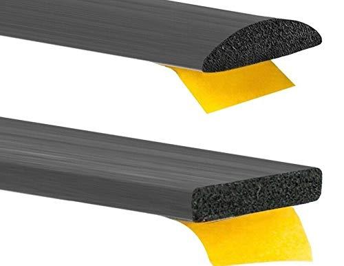 Gummidichtung selbstklebend Türdichtung 6 Grössen & 2 Formen Rechteckig oder Rund Hubdach Moosgummi EPDM Schaumstoff Dichtung (16mm x 3mm rund)