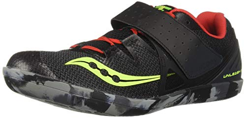 Saucony Men's UNLEASH SD2 Track and Field Shoe, black/red, 11.5 Medium US