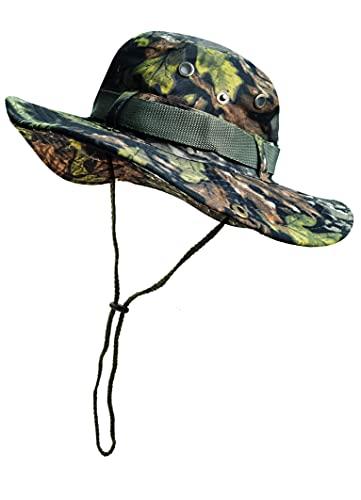 Fischerhut, Camouflage, faltbar, Sonnenhut für Outdoor, Jagd, Reisen, Angeln, Baumwolle, für Climb Camping 59 cm