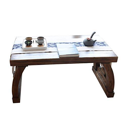 HIGHKAS Holz Couchtisch Wohnzimmer Mini Couchtisch Teetisch Laptop Tisch Einfacher Studiertisch Arbeitstisch Esstisch (Farbe: Braun, Größe: 80x50x40cm)