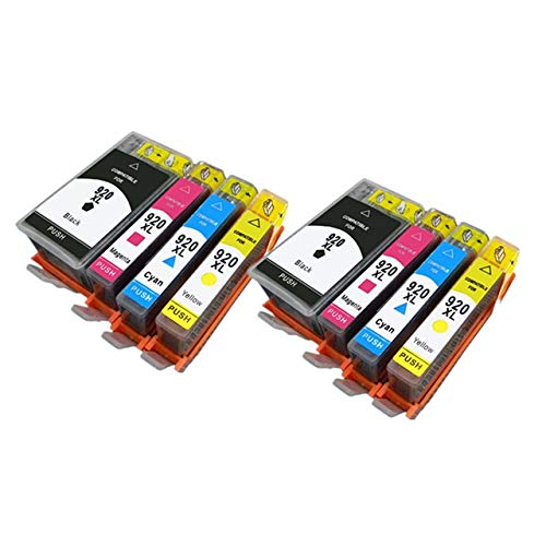 LIUYB 4PCS 920 de Cartucho de Tinta Compatible Ajuste for HP 920XL for HP920 Officejet 6000 6500 6500A 7000 7500 7500A Impresora con la viruta (Color : 2 Set)