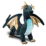 "Cuddle Toys 727 Aragon Navy Dragon Plush Toy, 16""/41 cm Long"