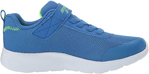 Skechers Jungen Dyna-lights Sneaker, Blau (Blue Mesh/Lime Trim Bllm), 31 EU