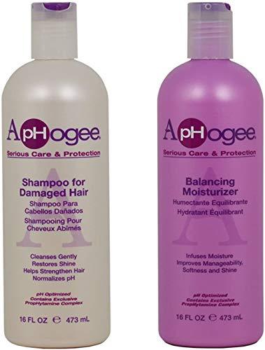 "ApHogee Shampoo for Damaged Hair + Balancing Moisturizer 16oz""Set"""