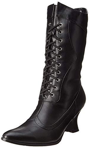Ellie Shoes Women's 253 Amelia Victorian Boot, Black Polyurethane, 10 M US