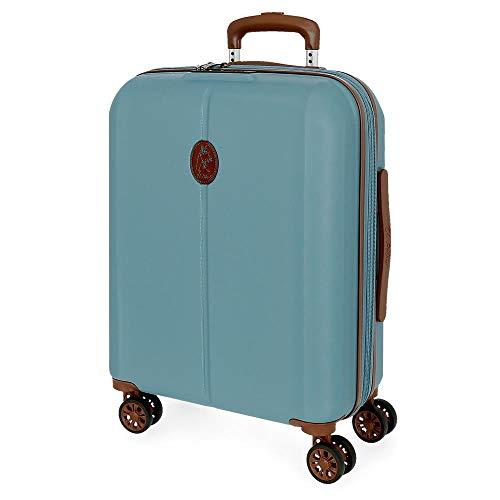 El Potro Ocuri Maleta de Cabina Azul 40x55x20 cms Rígida ABS Cierre...