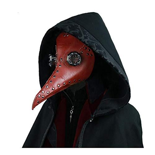 ZQJSC Halloween Crow Maske, Karneval-Partei-Dekoration, Stereoscopic kühle Leder-Material Halloween Maske (Color : B)