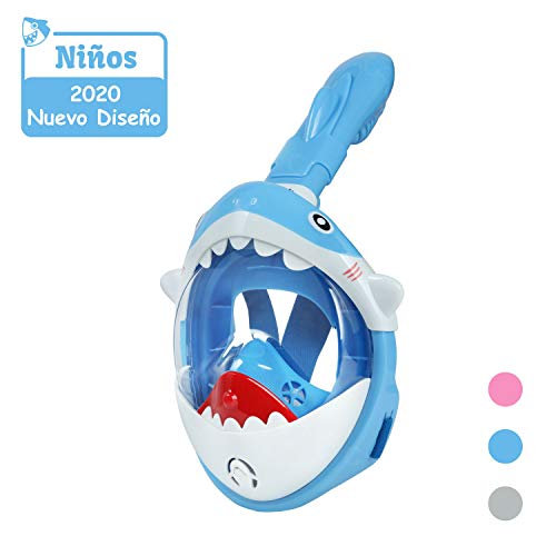 Glymnis Máscara Buceo Niños 180° Máscara Snorkel