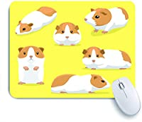 ECOMAOMI 可愛いマウスパッド かわいいモルモットのポーズ漫画 滑り止めゴムバッキングマウスパッドノートブックコンピュータマウスマット