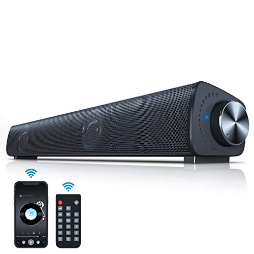 Vanzev Altoparlante Cassa PC Hi-Fi Suono Surround 3D, Bluetooth Cablati e Wireless con Telecomando, Soundbar Portatile per USB Home Theater Computer Notebook TV Laptop