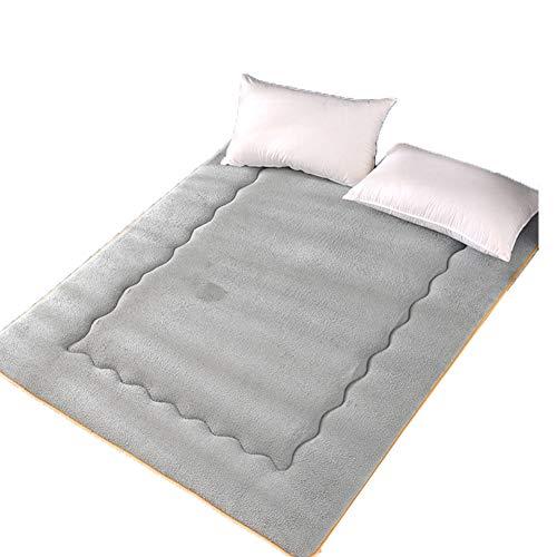 HXSKI Lana De Cordero Colchón Futon,Cómoda Suave Colchón,Plegable Roll Up Tatami Mat,para Boys Girls Dormitory Cama-Gris 120x200cm(47x79inch)