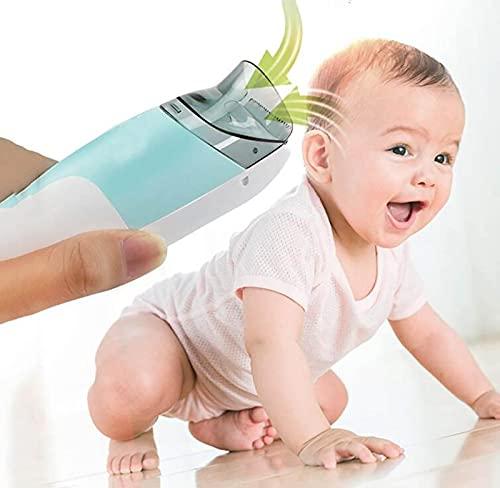 summerr Cortapelos Eléctricos para Bebés, Cortapelos Impermeable Silent Kids, Cortapelos para bebés Succión automática de Cabello con 2 peines guía