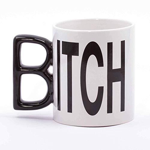 Kaffeegenuss Kaffeetasse aus Keramik weiß/schwarz