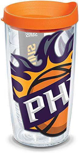 Tervis NBA Phoenix Suns - Vaso con envoltura y tapa naranja, 473 ml, transparente