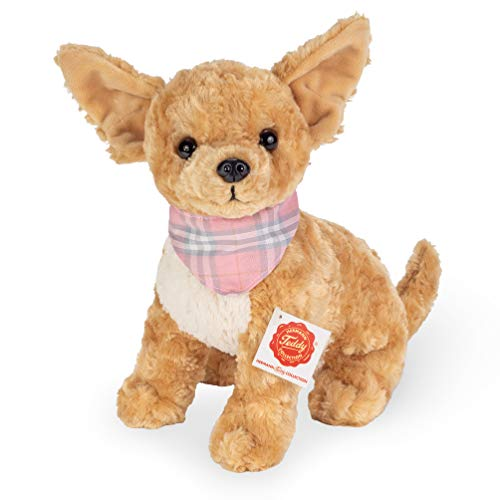 Teddy Hermann 91948 Hund Chihuahua 27 cm, Kuscheltier, Plüschtier