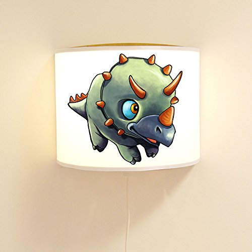 wandtattoo-welt® Lampe Murale pour Enfant Motif Dinosaures Vert