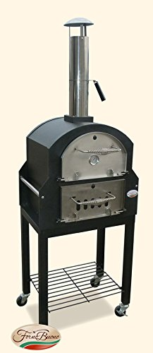 Forno Buono® Amalfi Pro- Pizza Oven Wood-Fired Patio Garden Outdoor Bread Oven