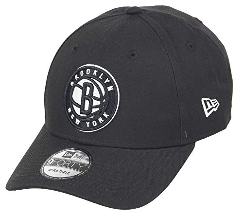 New Era Brooklyn Nets 9forty Adjustable Snapback Cap NBA Essential Black - One-Size