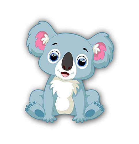 Koala Bear Cartoon Sticker for Laptops Cups Tumblers Cars and Trucks Any Smooth Surface