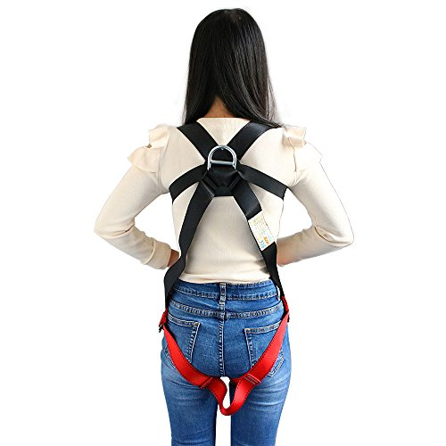 X XBEN Kids' Full Body Harness, Youth Safety Comfort Zipline Climbing Harness Belts for Outdoor Expanding Training, Caving Rock Rappelling Equip (S (4-10 Years))