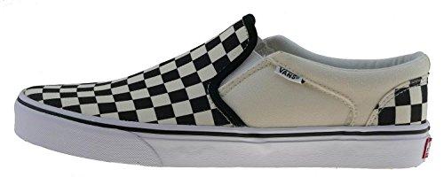Vans' Men's Asher Slip On Sneaker Black/NAT 10 Medium US