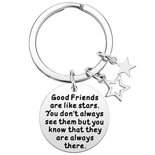 Best Friend Gifts for Women - Good Friends are Like Stars Friendship Keychain Gift, Best Friend Gift for Teens, Birthday Gifts for Best Friend BFF Jewelry