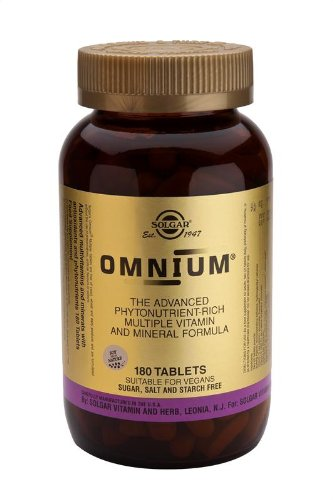 Solgar Omnium Tablets Phytonutrient Complex Multiple Vitamin & Mineral Formula 180 ct