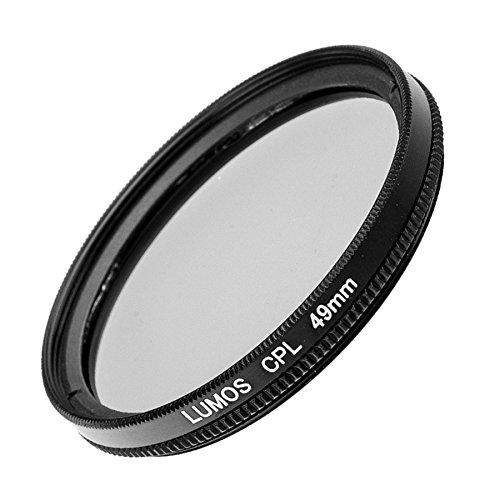 LUMOS Premium Polarisationsfilter - 49mm – Lichtdurchlässiges Glas – 2-teilige Metallfassung - Polfilter 49 mm– schlankes Slim Design