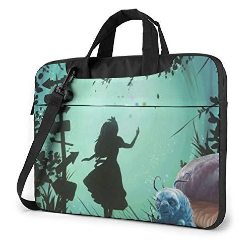 13 Inch Laptop Bag Alice in Wonderland Laptop Briefcase Shoulder Messenger Bag Case Sleeve
