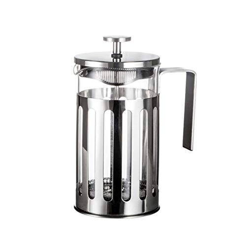 Greatangle-UK Edelstahl French Press Kaffeemaschine Cafetiere Percolator Tool Isolierte Kaffeetee-Braukanne mit Filterkörben Silber 1000ml