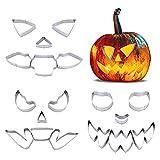 18-teiliges Halloween-Kürbis-Schnitzset Kürbis-Gesichts-Schnitzwerkzeuge Nicht-Messer-Kürbis-Schnitzschablone