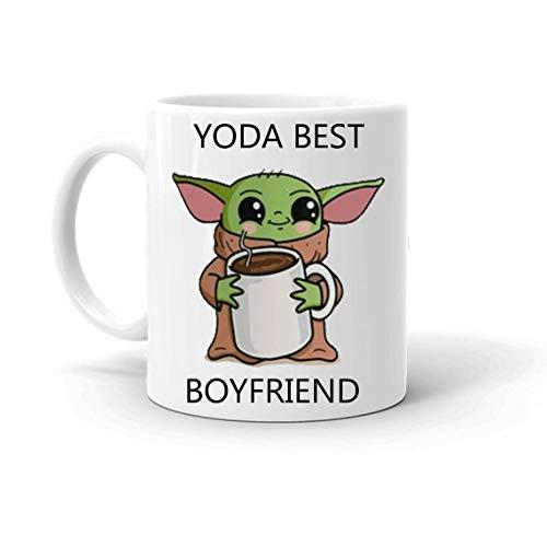 Boyfriend or Husband Gift Baby Yoda Best Boyfriend Coffee Mug Funny Gift Free Pouch