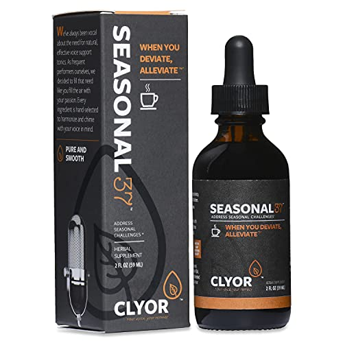 Seasonal37 - Cold Remedy - Fast Acting Cold Relief - All Natural Herbal Immune Booster Cold Flu Cough Respiratory Congestion, Elderberry, Ginger &Amp; Echinacea Herb 2Oz - Seasonal37 By Clyor