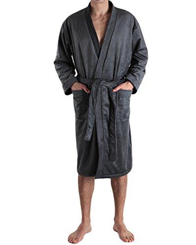 Hom - Robe de Chambre Longue Gstaad - (Gris/L)