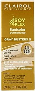 Clairol Professional Liquicolor 2N/82N Dark Neutral Brown, 2 oz (Pack of 6)