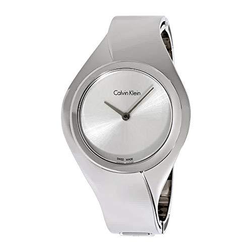 Calvin Klein Women's Swiss Senses Stainless Steel Bangle Bracelet Watch 39mm K5N2S126