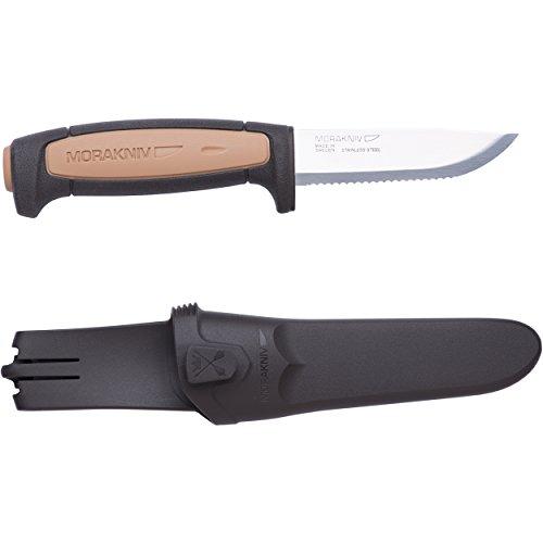 Morakniv Rope Couteau Fixe Mixte Adulte, Manche polymère Corail/Noir