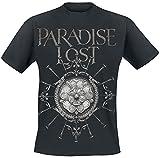 Paradise Lost Obsidian Rose Hombre Camiseta Negro S, 100% algodón, Regular