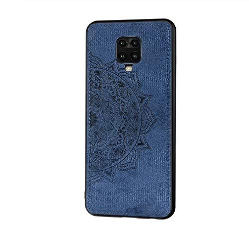 JiuRui-504 kuaijiexiaopu Fundas para Xiaomi Redmi Note 9s 9 Pro MAX, Paño de Tela de Moda Silicone TPU Funda para Parachoques para Redmi 9T Pro 9 Lite (Color : Azul, Material : Xiaomi 9T(9T Pro))