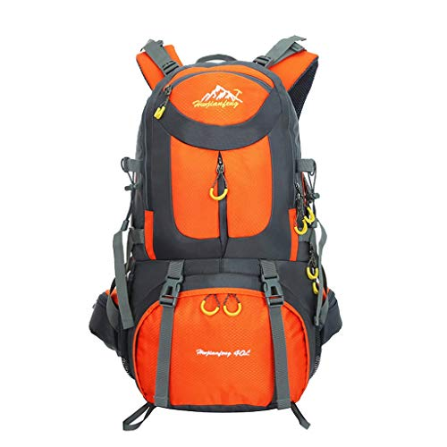 WLP-WF Multifunction Backpack Trekking Sports Mountaineering Climbing Travel High Capacity Bag, 40L - Purple, 30 * 20 * 55Cm,Orange