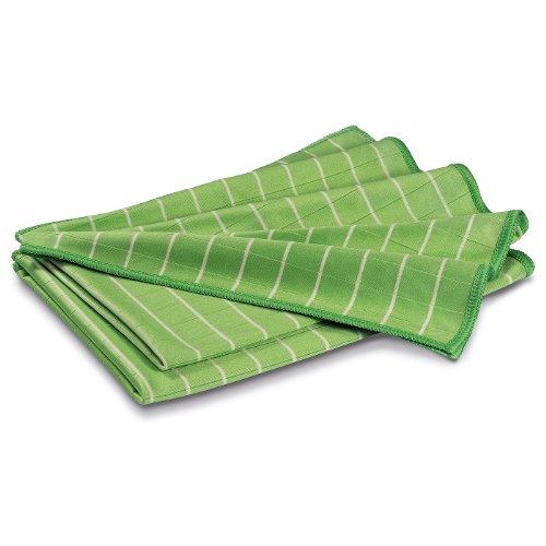 POLYCLEAN 2x Bambustuch – Glas-Poliertuch mit Bambusfasern – Fenstertuch für Glas und...