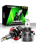 NOVSIGHT H13/9008 LED Headlight Bulbs, 20000 Lumens 600% Extremely Brighter Hi/lo Beam Conversion Kit, 6500K Cool White, IP68 Waterproof, Brightest Halogen Replacement