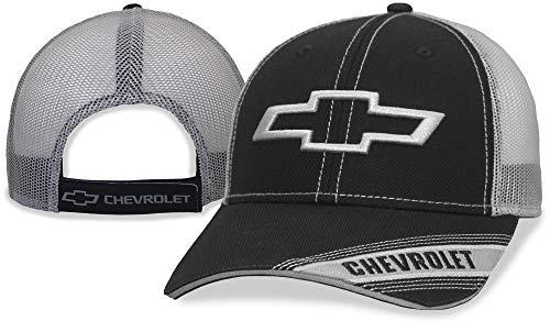 Chevrolet Black/Grey mesh Chevy on Bill Cap