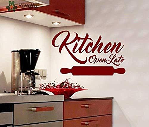 Muursticker keuken wandtattoo Open laat vinyl geschenk Ing Pin patroon afneembare moeder keuken Home Decor Art 72X120Cm