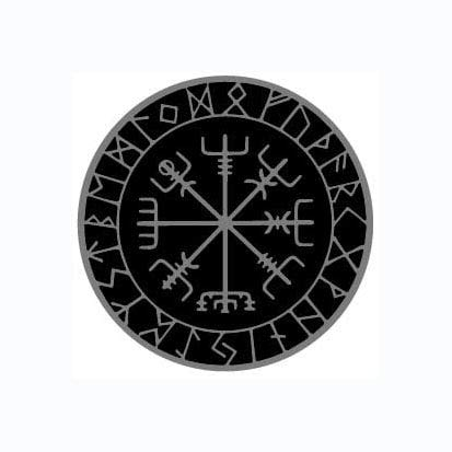 MAMA STICKER Bumper Gray Vegvisir Circle Viking Norse Rune Fear Talisman Amulet Odin Water Proof Tattoo Decal Symbol Sign Helmet Motorcycle Luggage Laptop Notebook Back Truck Van SUV Window Scrapbook