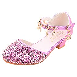 04 Purple Sparkle Mary Janes Low Heel Sandals