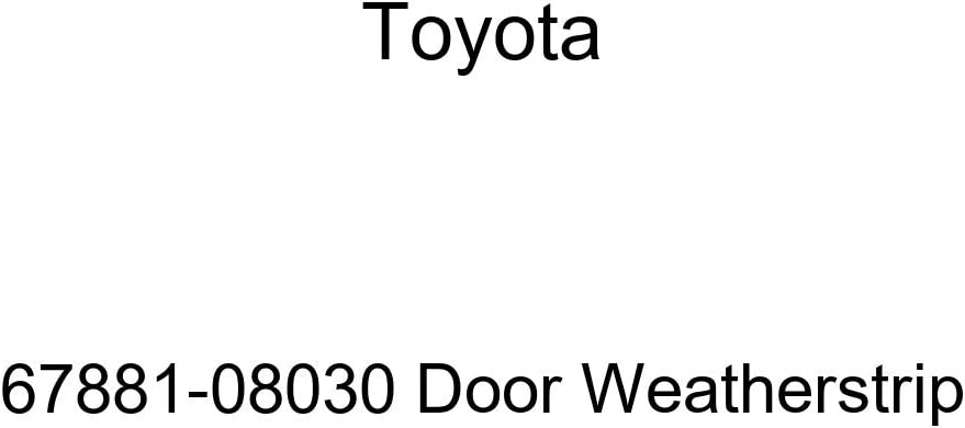 TOYOTA OFFicial Genuine 67881-08030 excellence Door Weatherstrip
