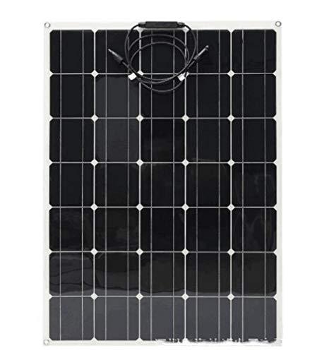 Huashao Panel Solar de 150 vatios, Tablero de generación de energía Flexible, Panel Solar Ultrafino de un Solo Cristal de Alta eficiencia, Adecuado para baterías de Plomo de 12 V