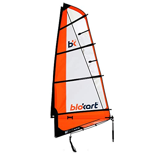 Patiente eléctrico Blokart Sail Complete 3 m Naranja Unisex Adulto 3.0 m2