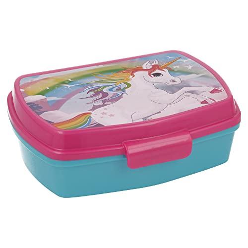 | Unicornios | Sandwichera Para Niños Decorada - Fiambrera Infantil | Caja Para El Almuerzo Y Porta Merienda Para Colegio -...